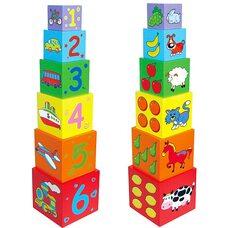 Пирамидка из кубиков «Цифры-счет»