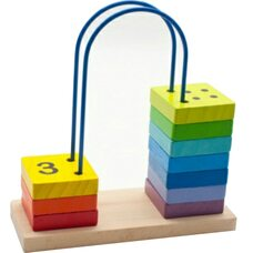 Счеты-лабиринт от 1 до 10