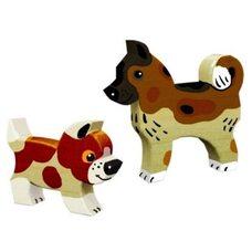 Деревянная игрушка-раскраска «Собака и щенок»