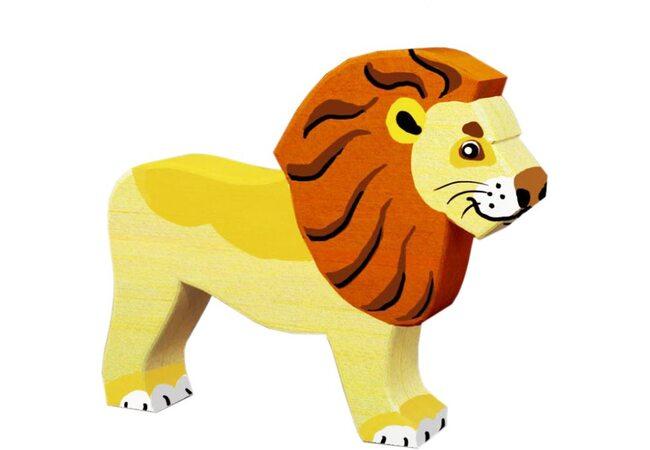Деревянная игрушка-раскраска «Лев»