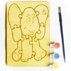 Раскраска-пазл «Слон»