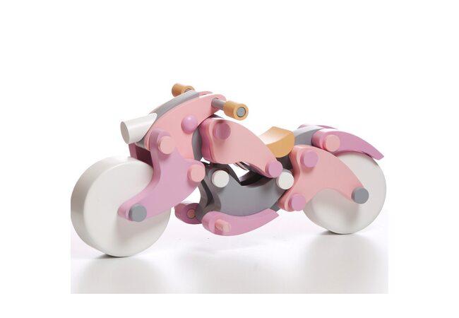 Магнитный конструктор «Мотоцикл» (rose)