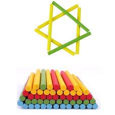 Счетные палочки цветные, 100 шт.