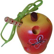 Яблоко художественно окрашенное
