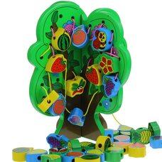 Дерево шнуровка «Фрукты+насекомые»