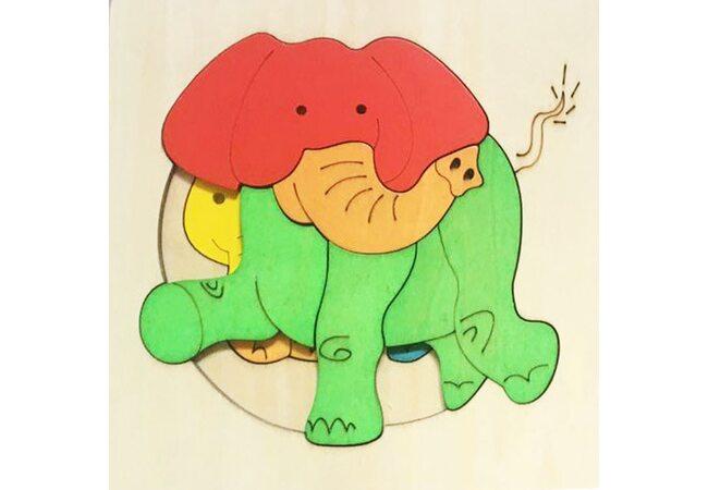 Мозаика «Семья слонов», двухслойная