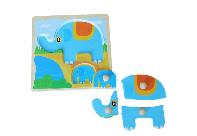 Вкладыши-пазлы «Слоненок»