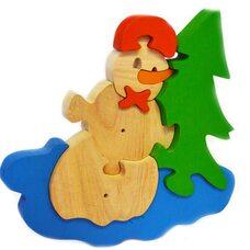 «Снеговик» 3D пазл, 8 дет.
