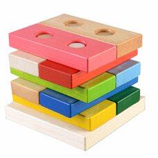 Головоломка-пирамидка из цветных плашек