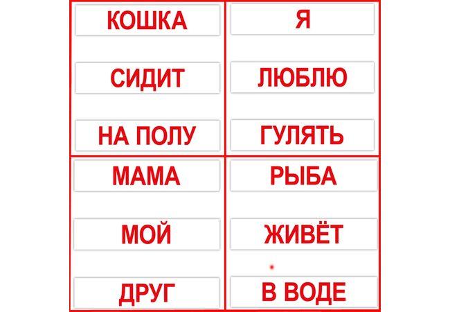 Большие русские карточки «Чтение по Доману», 120