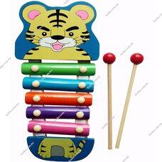 Ксилофон «Тигренок», 5 тонов (цветной)