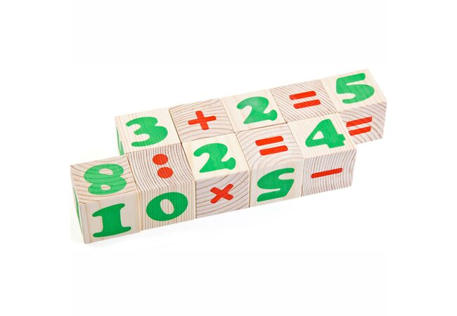 Кубики «Цифры», 12 шт.