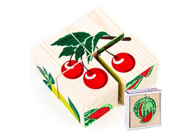 Кубики «Фрукты-ягоды», 4 шт.