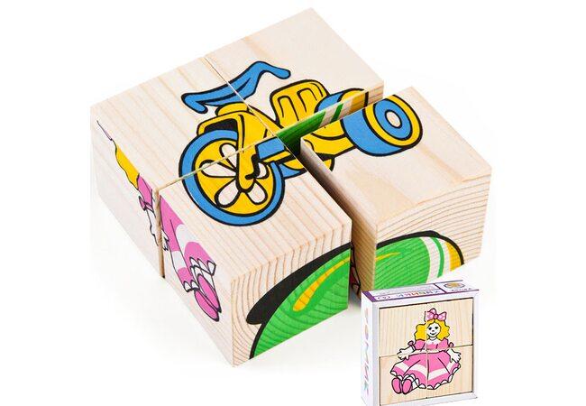 Кубики «Игрушки», 4 шт. (для малышей)