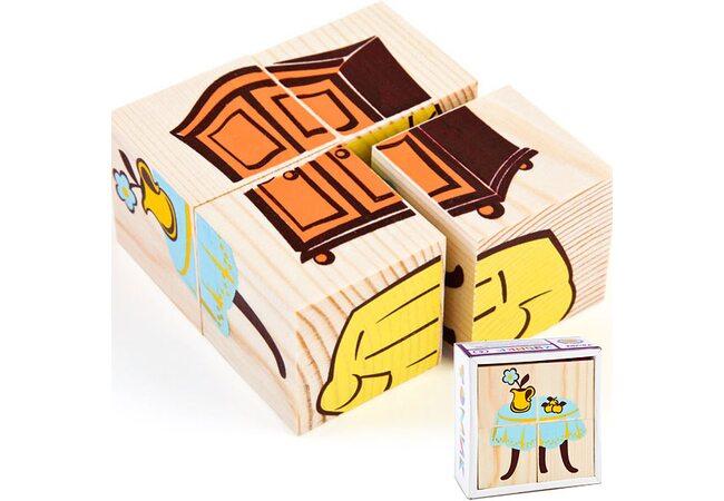 Кубики «Мебель», 4 шт.