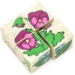 Кубики «Цветочки», 4 шт.