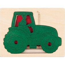 Пазл пятислойный «Трактор» (больше-меньше), 5 дет.