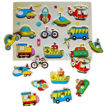 Детские вкладыши «Подбери транспорт»