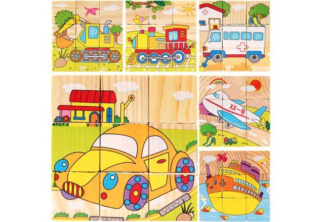 Кубики «Транспорт», 9 элементов