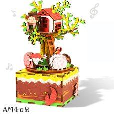 Музыкальный конструктор «Домик на дереве», заводной.