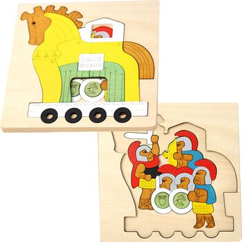 Мозаика «Троянский конь», двухслойная, 48 дет.