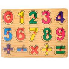 Рамка-вкладыш с ручкой «Цифры» от 0 до 9
