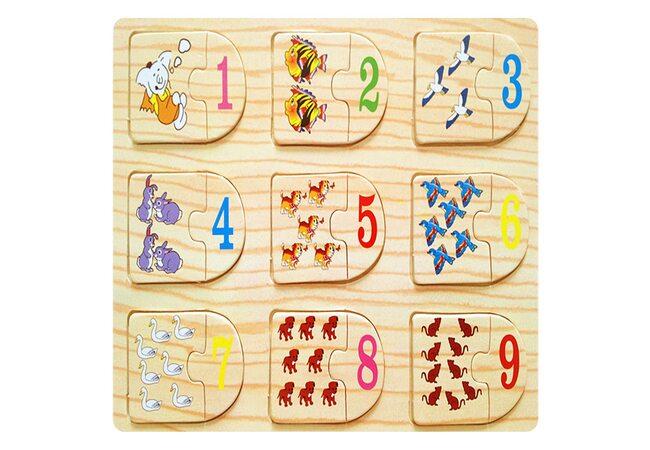 Пазл «Цифры» от 1 до 9