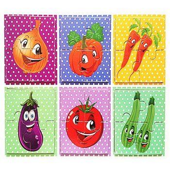 Пазлы «Vegetables», 4 эл.