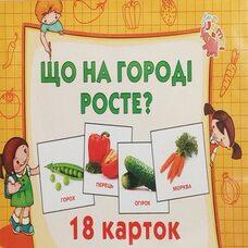 Набор карточек «Овощи» (укр.)