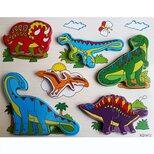 Объемный вкладыш-пазл «Динозавры»
