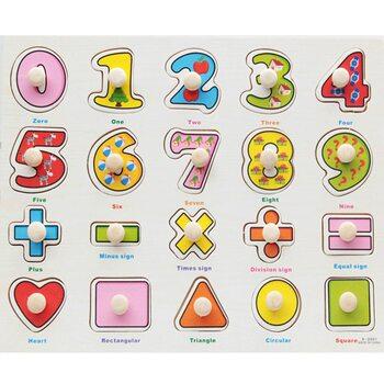 Рамка-вкладыш «Цифры-знаки-фигуры»