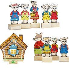 Набор персонажей сказки «Волк и семеро козлят»
