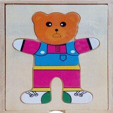 Игра «Поменяй одежду Медвежонку»