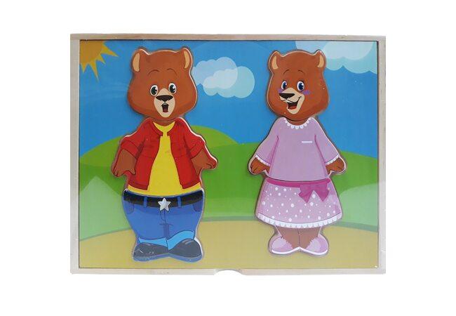 Игра «Одень Медвежат»