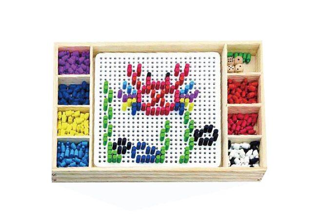 Деревянная мозаика + игра «Лудо»