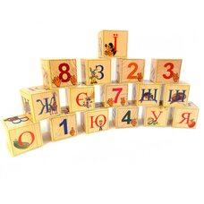 Украинский алфавит, 16 кубиков.
