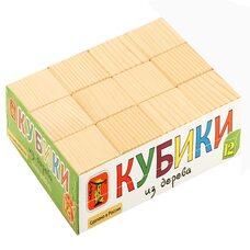Деревянные кубики (неокрашенные), 12 шт.
