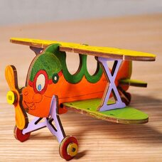 Механическая 3D-модель «Биплан», 23 дет. (раскраска)