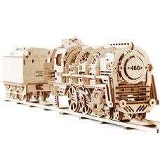 Механическая 3D-модель «Локомотив с тендером», 443 дет.