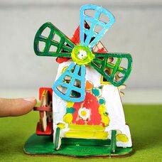 Механическая 3D-модель «Мельница», 23 дет. (раскраска)