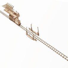 Механическая 3D-модель «Ж/д переезд с рельсами», 200 дет.