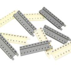 Числовой ряд (1-100 см) для счетных палочек