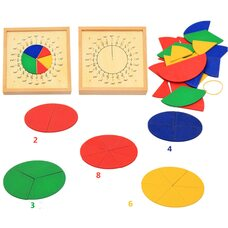 Пособие по математике - Дроби Монтессори