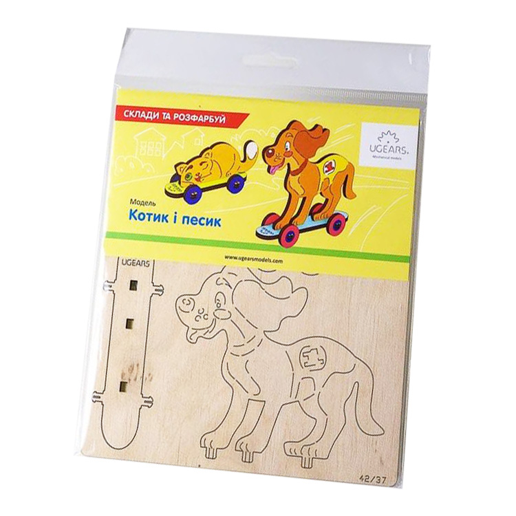 Деревянная игрушка Сборная 3D-модель «Кошка и собака», 15 ...
