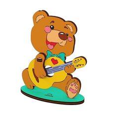Сборная 3D-модель «Медвежонок», 8 дет. (раскраска)