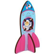 Сборная 3D-модель «Ракета», 8 дет. (раскраска)