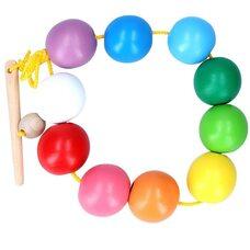 Шнуровка «Цветные шарики», 10 дет.