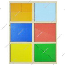 Игра «Сложи квадрат» Никитина - 1 уровень