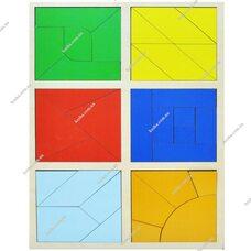 Сложи квадрат 3 уровень по Методике Никитиных