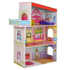 Кукольный домик 3 этажа (мебель)